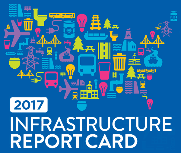 ASCE Infrastructure Report Card 2017 logo